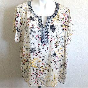 Skies are Blue floral blouse sz. 2X